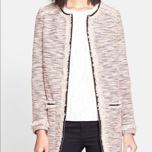 McGinn Sheila Pink and Black Tweed Zip Up Jacket